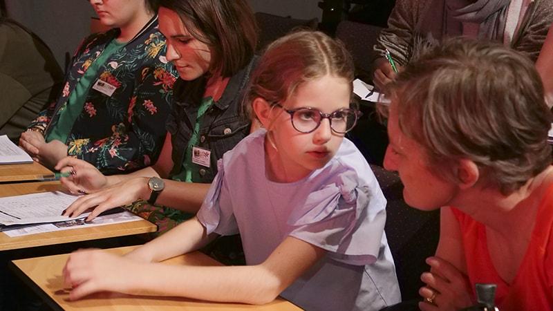 La plus jeune actrice du Festival.