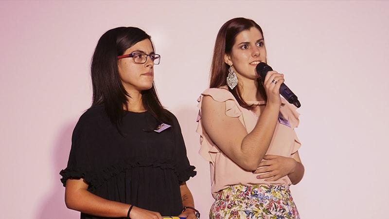 La délégation portugaise avec Marcia leur interprète.